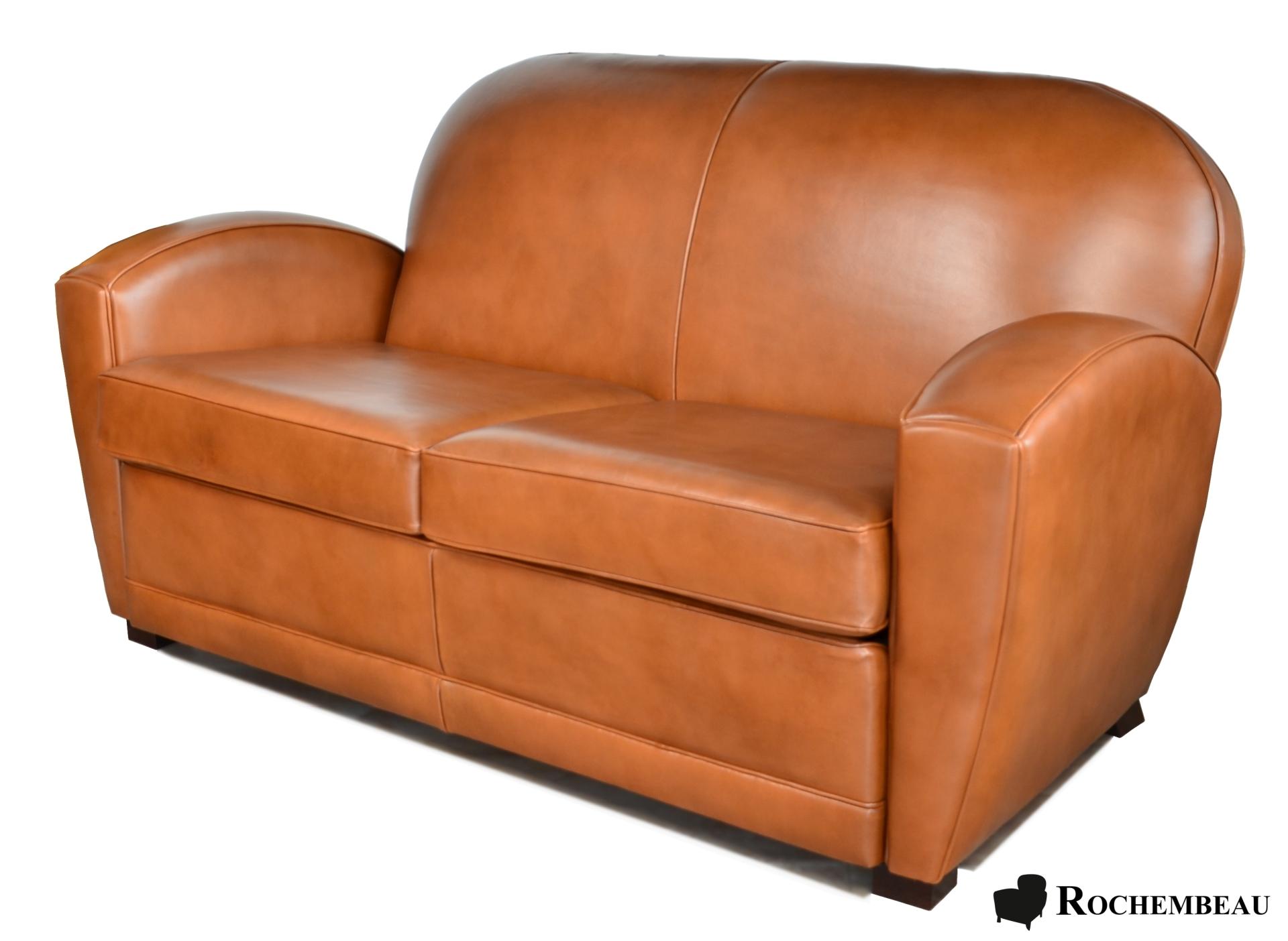 canap club paris en cuir. Black Bedroom Furniture Sets. Home Design Ideas