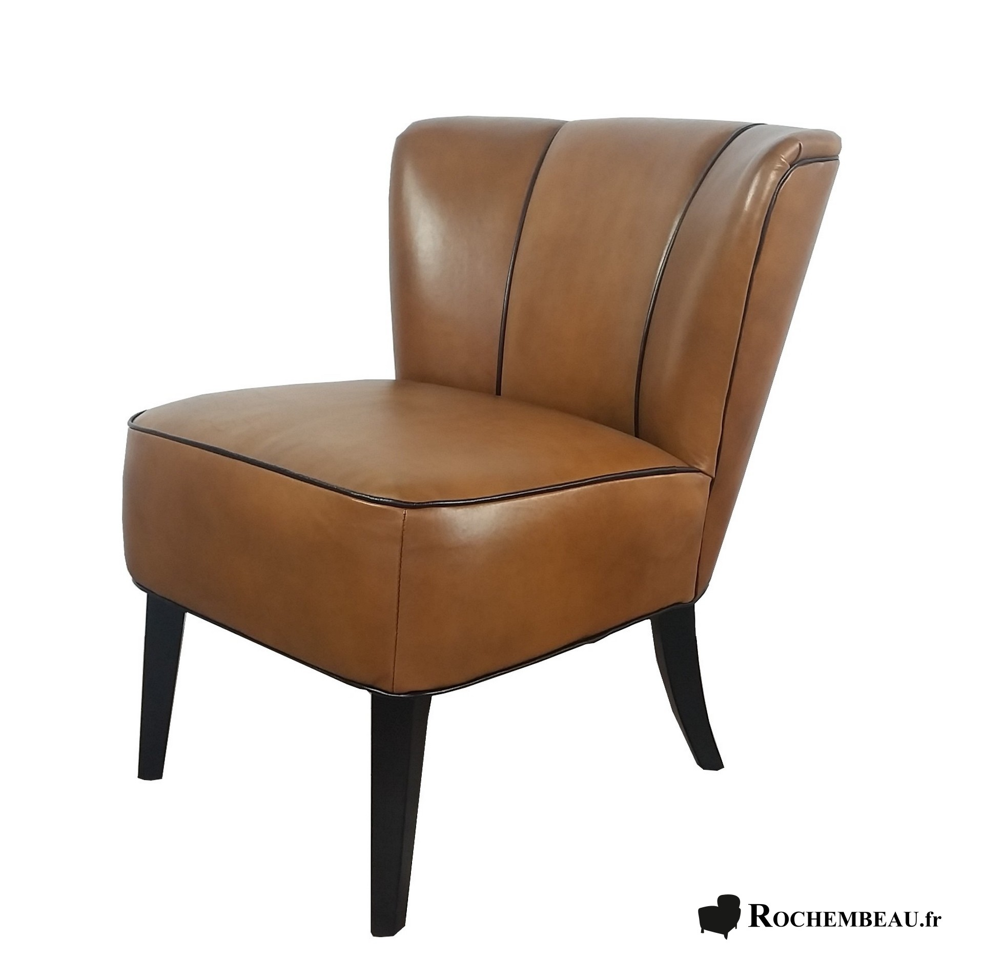 fauteuil berg re en cuir marron maisons du monde fauteuil berg re en cuir marron et m tal viss. Black Bedroom Furniture Sets. Home Design Ideas