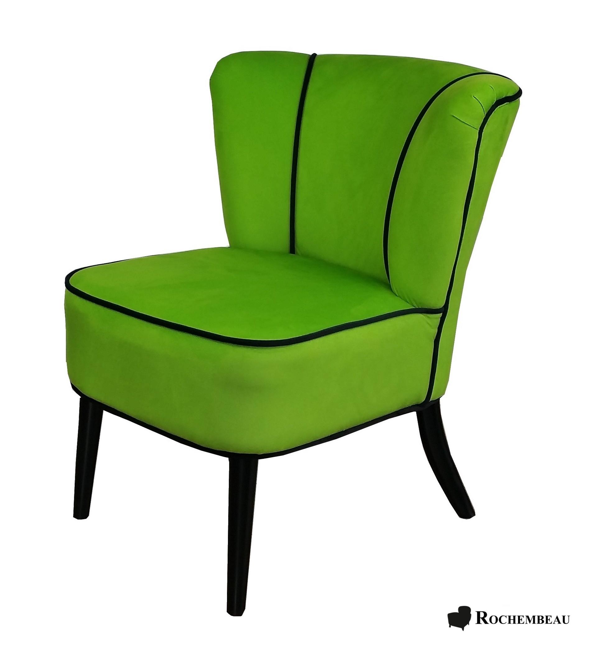 Fauteuil Tissu Design Vert