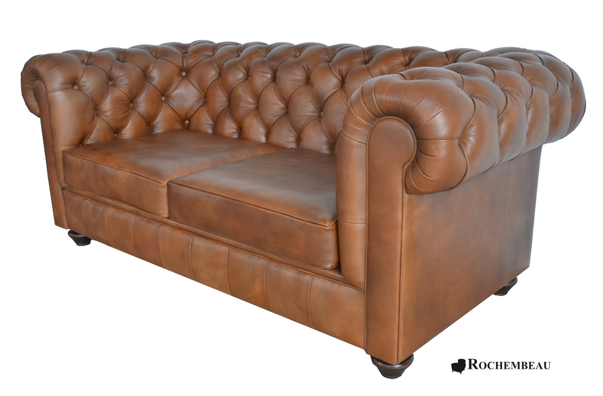 Canap chesterfield newton canap chesterfield en cuir basane rochembeau - Canape chesterfield rouge cuir ...