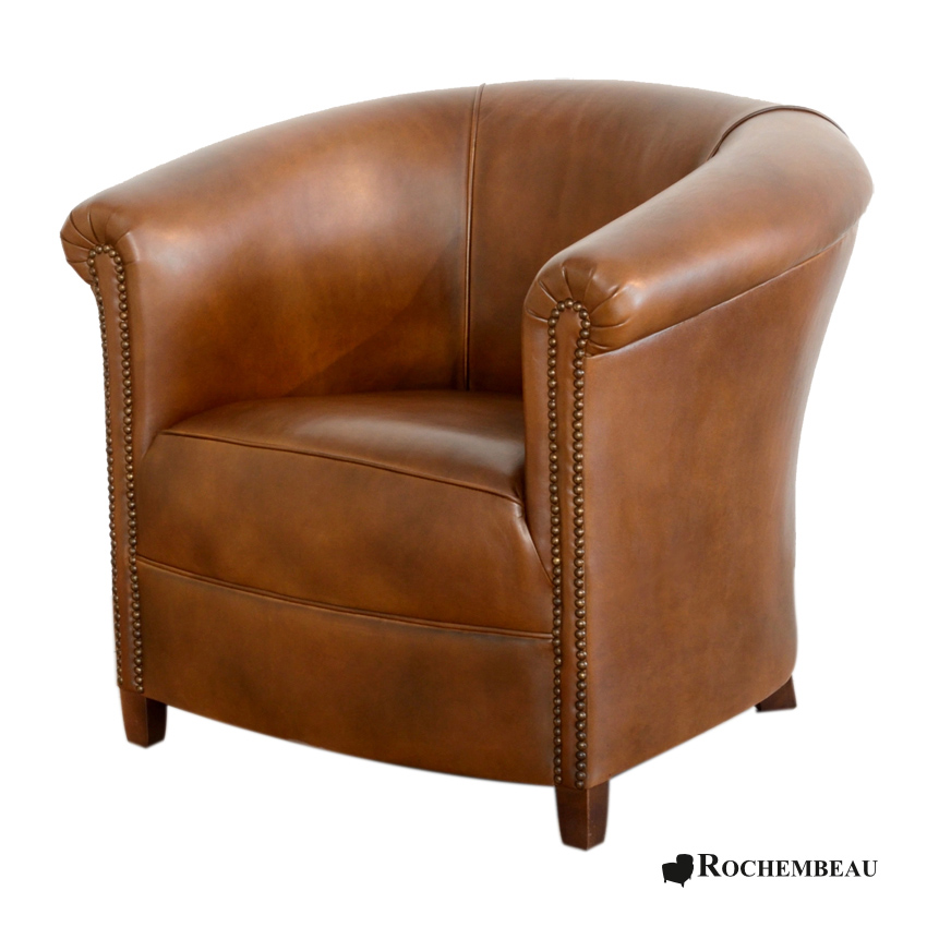 Fauteuil club brighton fauteuil club crapaud tonneau en cuir - Fauteuil rouge conforama ...