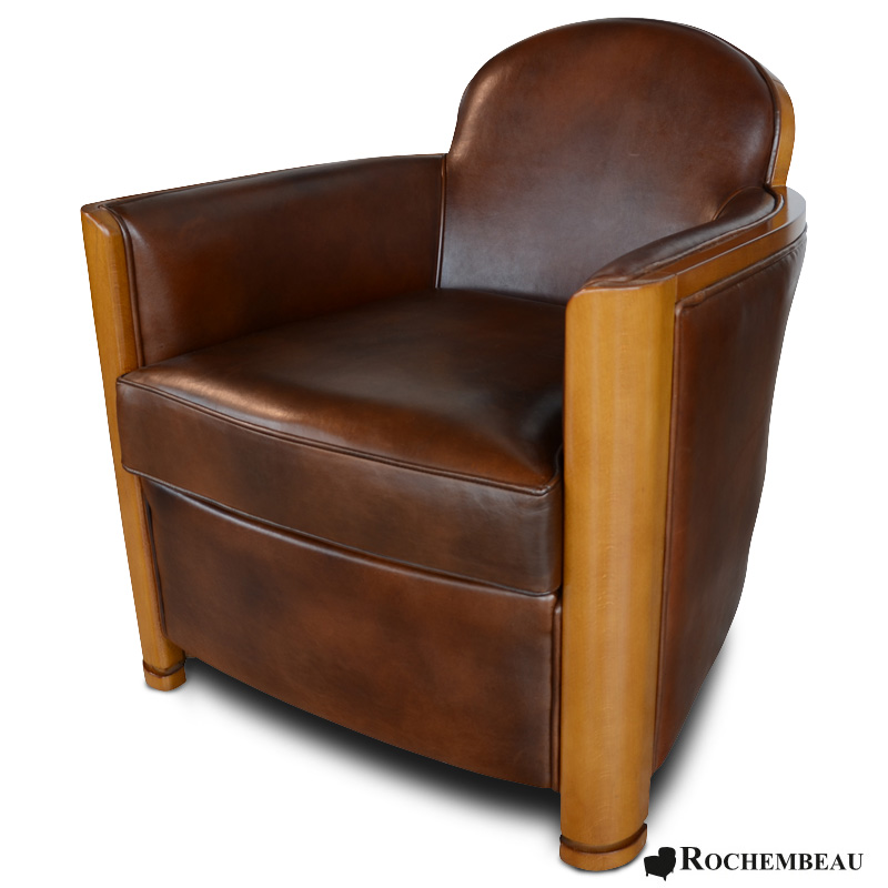 fauteuil club cardigan fauteuil club en cuir basane mouton rochembeau. Black Bedroom Furniture Sets. Home Design Ideas