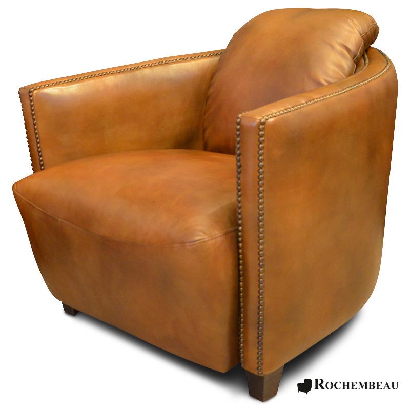fauteuil club bateau cigare en cuir fauteuil club cuir pleine fleur basane. Black Bedroom Furniture Sets. Home Design Ideas