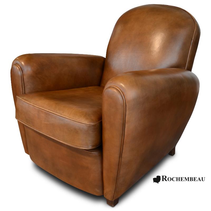fauteuil club cardiff fauteuil club en cuir basane rochembeau. Black Bedroom Furniture Sets. Home Design Ideas