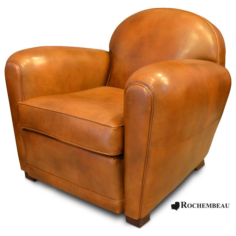Fauteuil club en cuir taille moyenne - Entretien fauteuil cuir ...