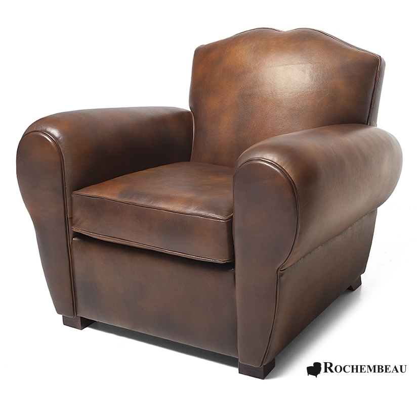 le fauteuil club moustache en cuir r dition du fauteuil club ann es 30. Black Bedroom Furniture Sets. Home Design Ideas