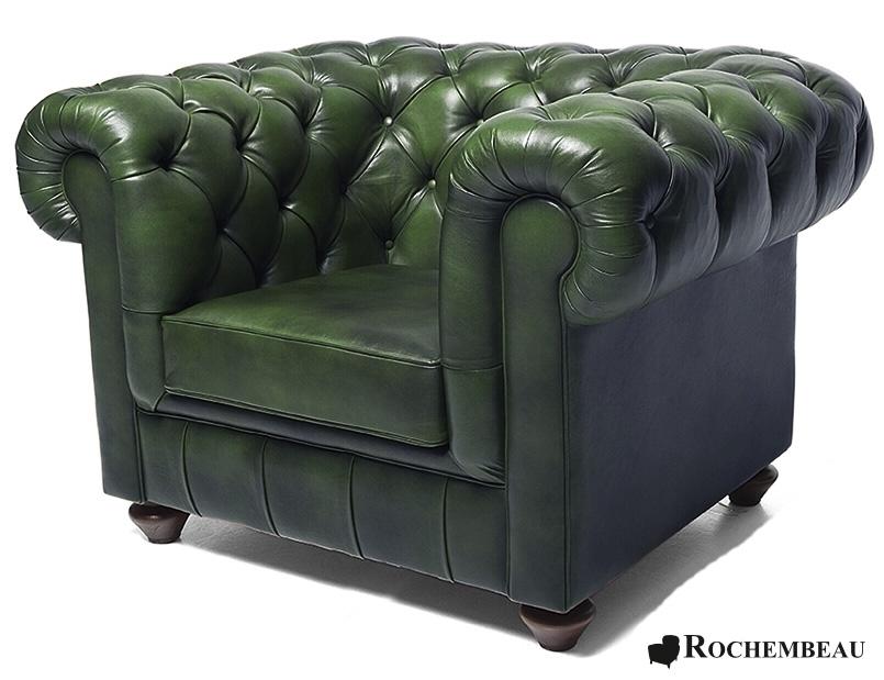 fauteuil club chesterfield en cuir de mouton la basane. Black Bedroom Furniture Sets. Home Design Ideas