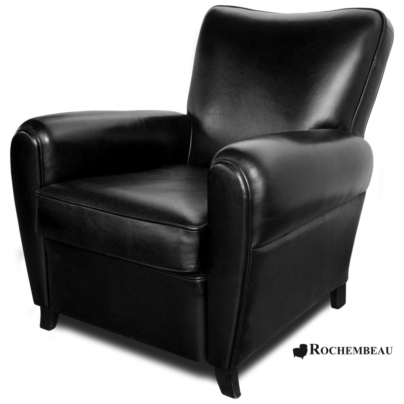 fauteuil club sheffield fauteuil club en cuir basane rochembeau. Black Bedroom Furniture Sets. Home Design Ideas