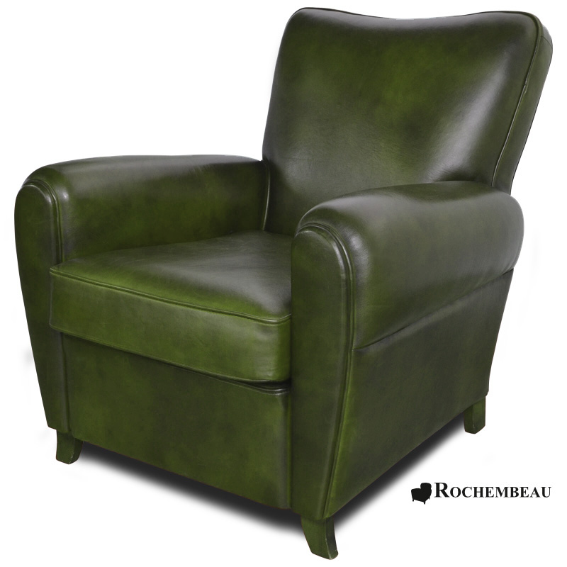 Fauteuil club sheffield fauteuil club en cuir basane rochembeau - Fauteuil club anglais ...