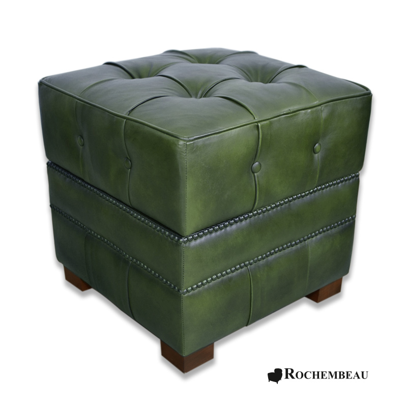 pouf carr coffre de rangement pouf bar capitonn. Black Bedroom Furniture Sets. Home Design Ideas