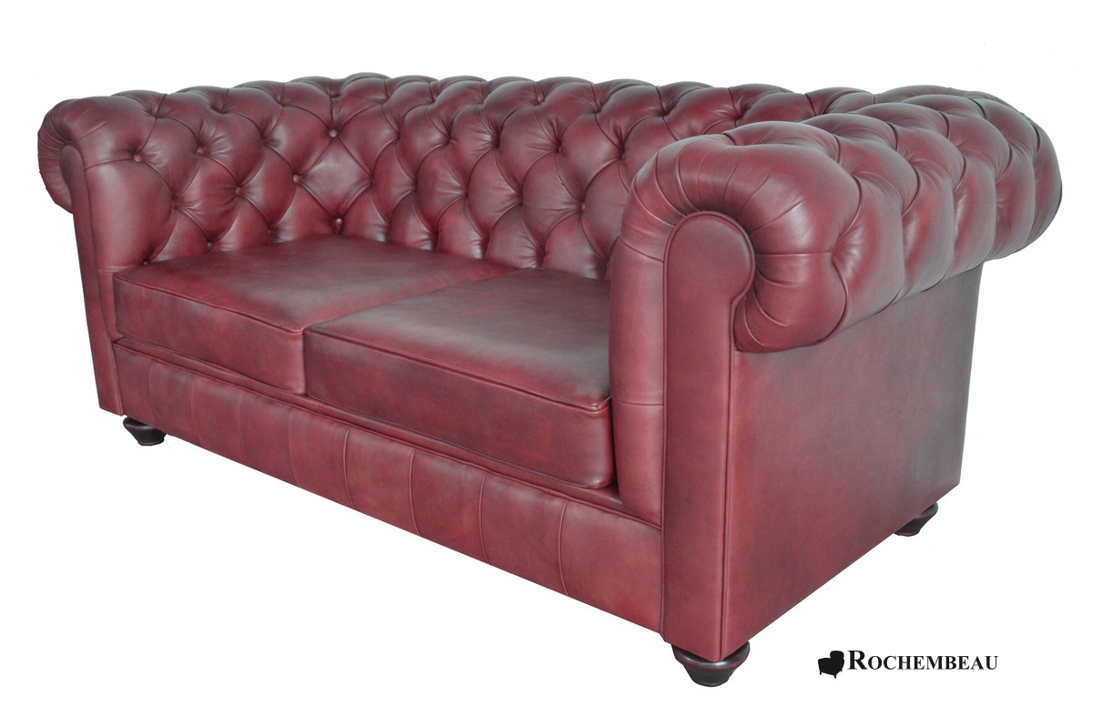 canap chesterfield newton canap chesterfield en cuir basane rochembeau. Black Bedroom Furniture Sets. Home Design Ideas