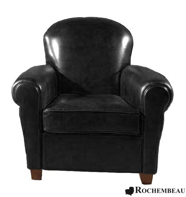 fauteuil club clapton fauteuil club en cuir basane rochembeau. Black Bedroom Furniture Sets. Home Design Ideas