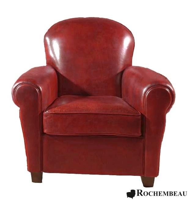 fauteuil club clapton fauteuil club en cuir basane rochembeau. Black Bedroom Furniture Sets. Home Design Ideas