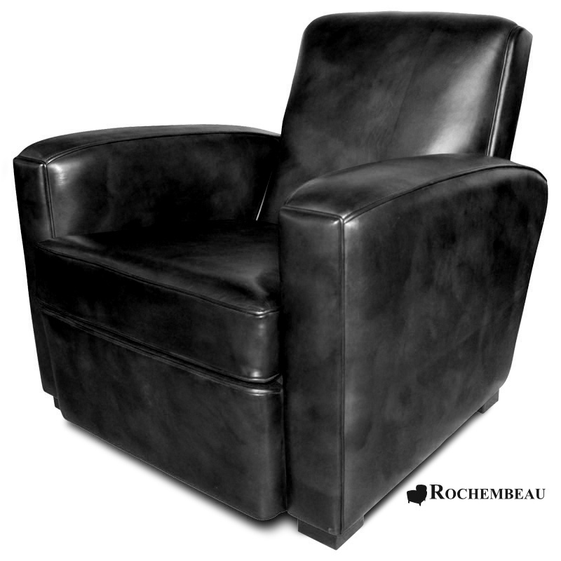 fauteuil club bolton fauteuil club en cuir basane pleine fleur. Black Bedroom Furniture Sets. Home Design Ideas