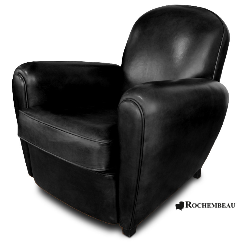 fauteuil club cardiff fauteuil club en cuir basane rochembeau. Black Bedroom Furniture Sets. Home Design Ideas