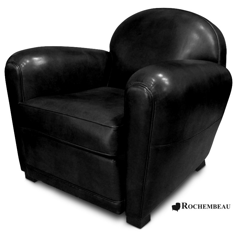 fauteuil club en cuir taille moyenne. Black Bedroom Furniture Sets. Home Design Ideas
