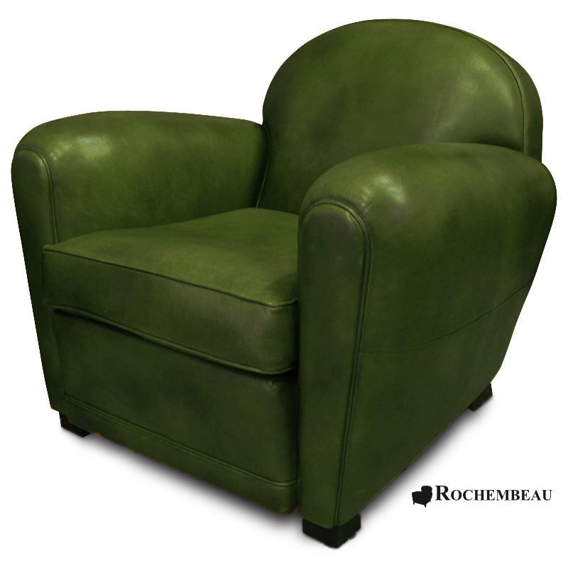 fauteuil club en cuir taille moyenne. Black Bedroom Furniture Sets. Home Design Ideas