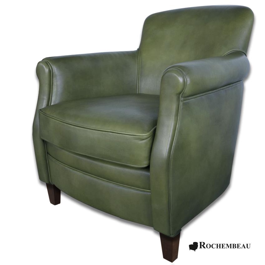 fauteuil club andrew fauteuil club en cuir basane mouton rochembeau. Black Bedroom Furniture Sets. Home Design Ideas