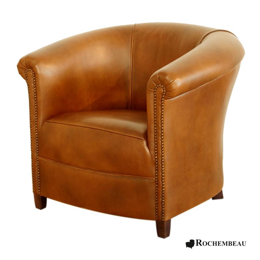 Fauteuil club brighton fauteuil club crapaud tonneau en cuir - Fauteuil crapaud en cuir ...