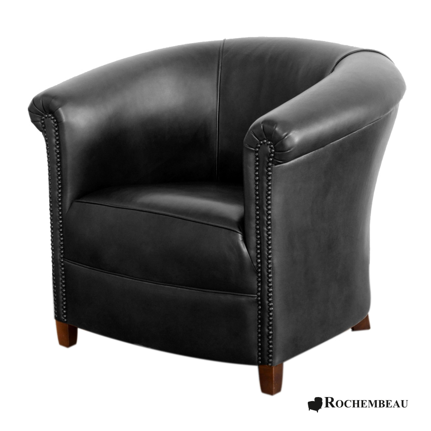fauteuil club brighton fauteuil club crapaud tonneau en cuir. Black Bedroom Furniture Sets. Home Design Ideas