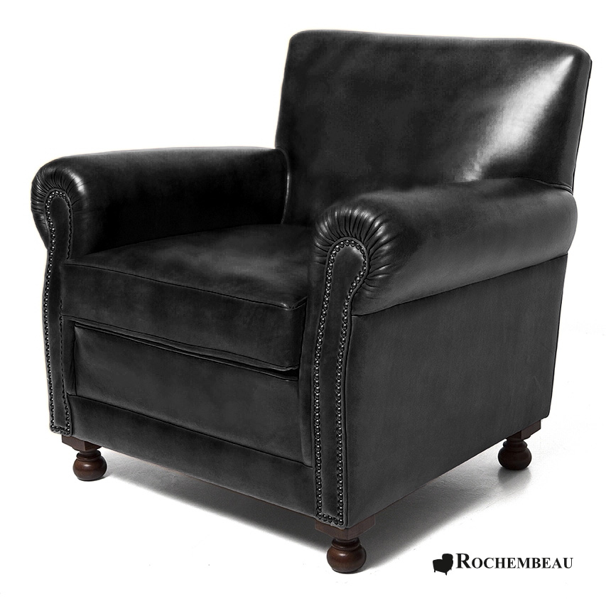fauteuil club liverpool fauteuil club en cuir basane rochembeau. Black Bedroom Furniture Sets. Home Design Ideas