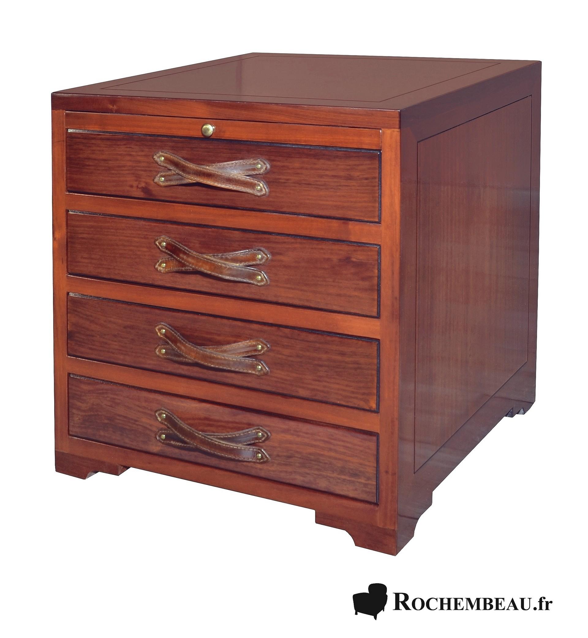 meuble marine chevet ou bout de canap en bois massif. Black Bedroom Furniture Sets. Home Design Ideas