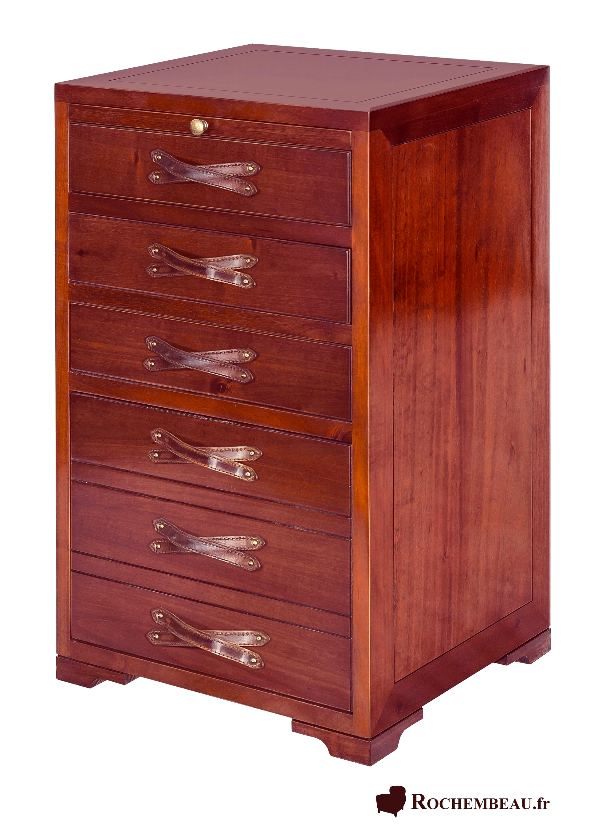 meuble bureau petit classeur 4 tiroirs en bois massif. Black Bedroom Furniture Sets. Home Design Ideas