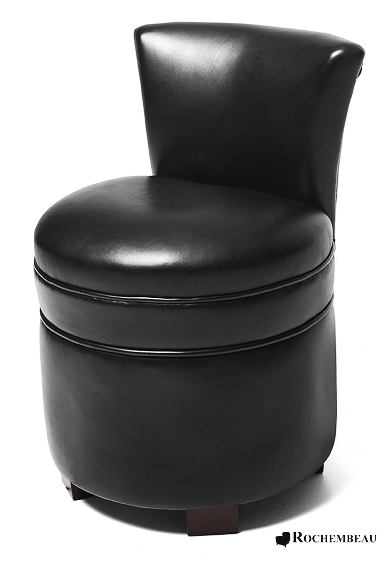 pouf avec dossier en cuir poufs rochembeau. Black Bedroom Furniture Sets. Home Design Ideas