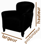 dimensions fauteuil club