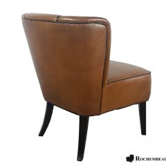 Fauteuil cocktail VEGA cuir marron B3