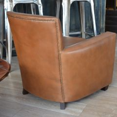 Fauteuil Club CHARLESTON - Marron B3