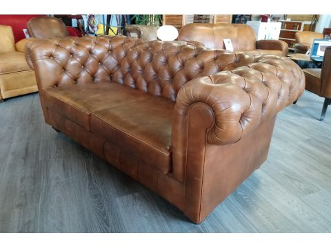 Canapé Chesterfield NEWTON - Marron B3