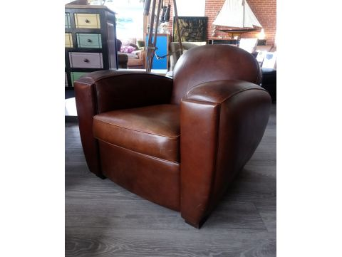 Fauteuil Club BOSTON - Marron E1