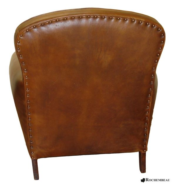 fauteuil club portsmouth fauteuil club en cuir basane rochembeau. Black Bedroom Furniture Sets. Home Design Ideas