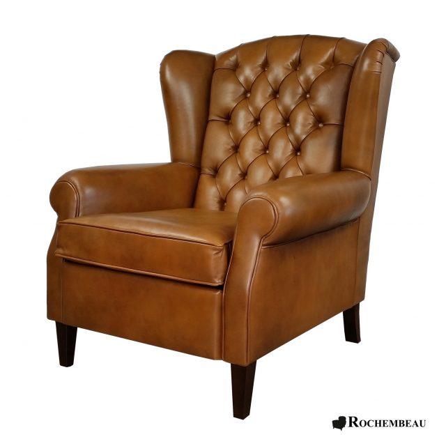fauteuils club en cuir pleine fleur de mouton basane. Black Bedroom Furniture Sets. Home Design Ideas