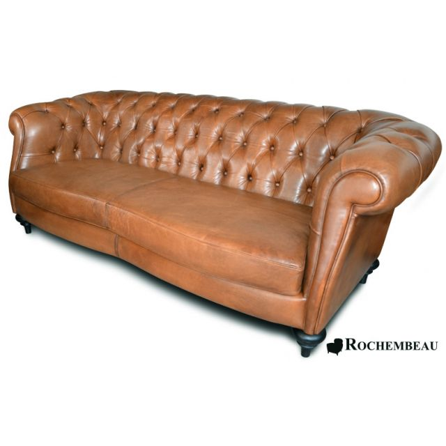 Canap s chesterfield en cuir pleine fleur cuir de mouton - Canape chesterfield but ...