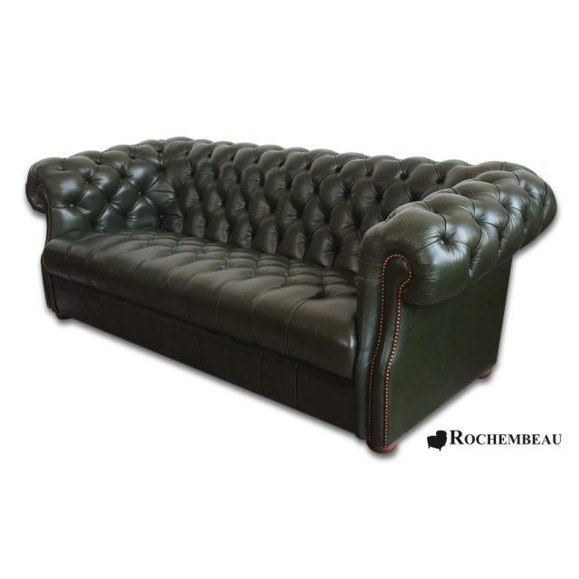 canap s chesterfield en cuir pleine fleur cuir de mouton basane. Black Bedroom Furniture Sets. Home Design Ideas