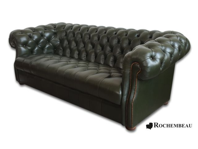 fauteuil club chesterfield fauteuil chesterfield en cuir basane rochembeau. Black Bedroom Furniture Sets. Home Design Ideas