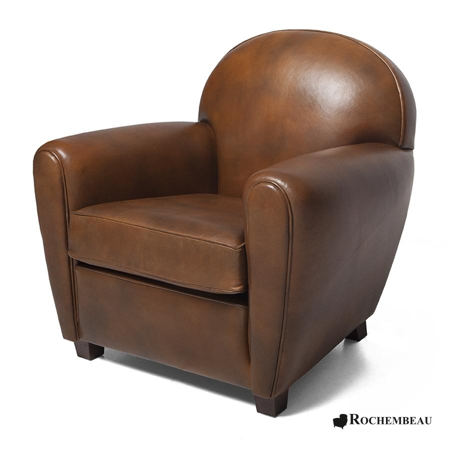 Petit fauteuil club new york petit si ge club en cuir de mouton - Petit fauteuil club cuir ...
