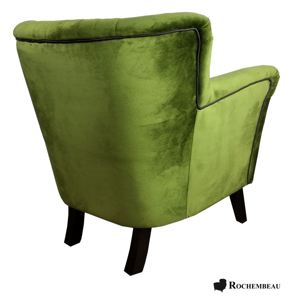 fauteuil crapaud tissu vert. Black Bedroom Furniture Sets. Home Design Ideas