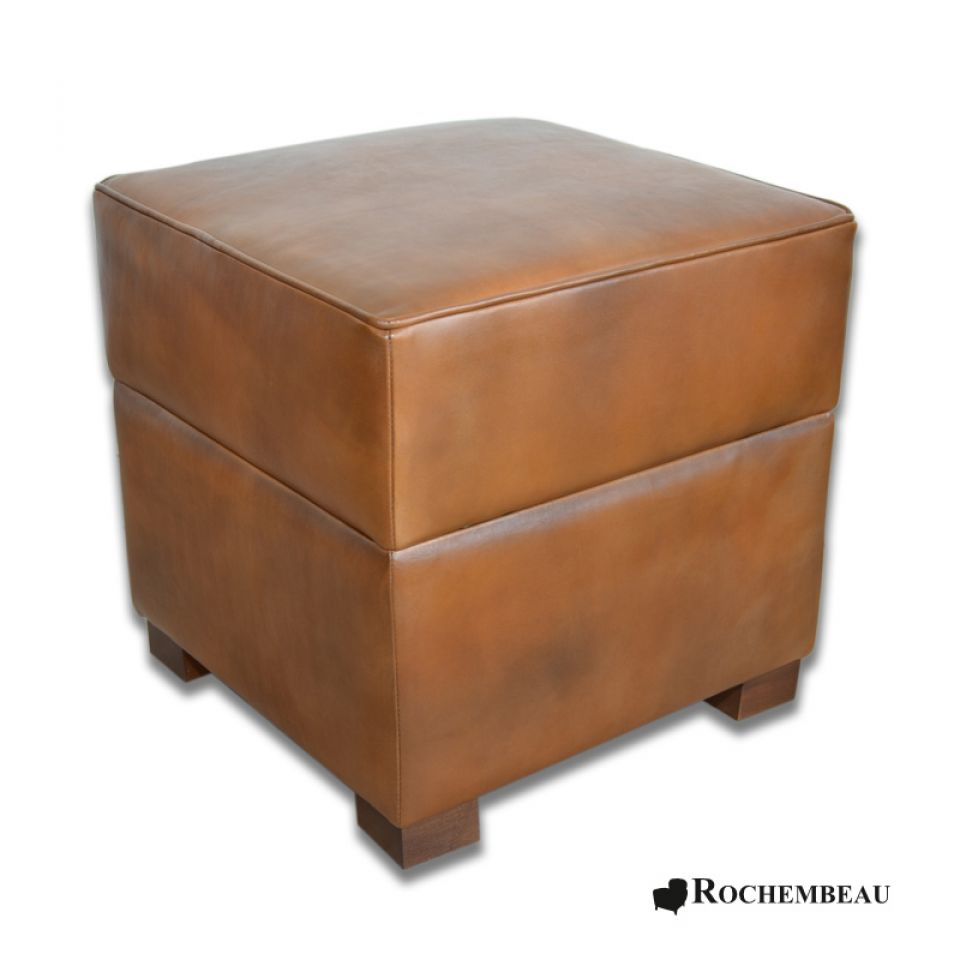 pouf carr coffre de rangement pouf bar en cuir. Black Bedroom Furniture Sets. Home Design Ideas