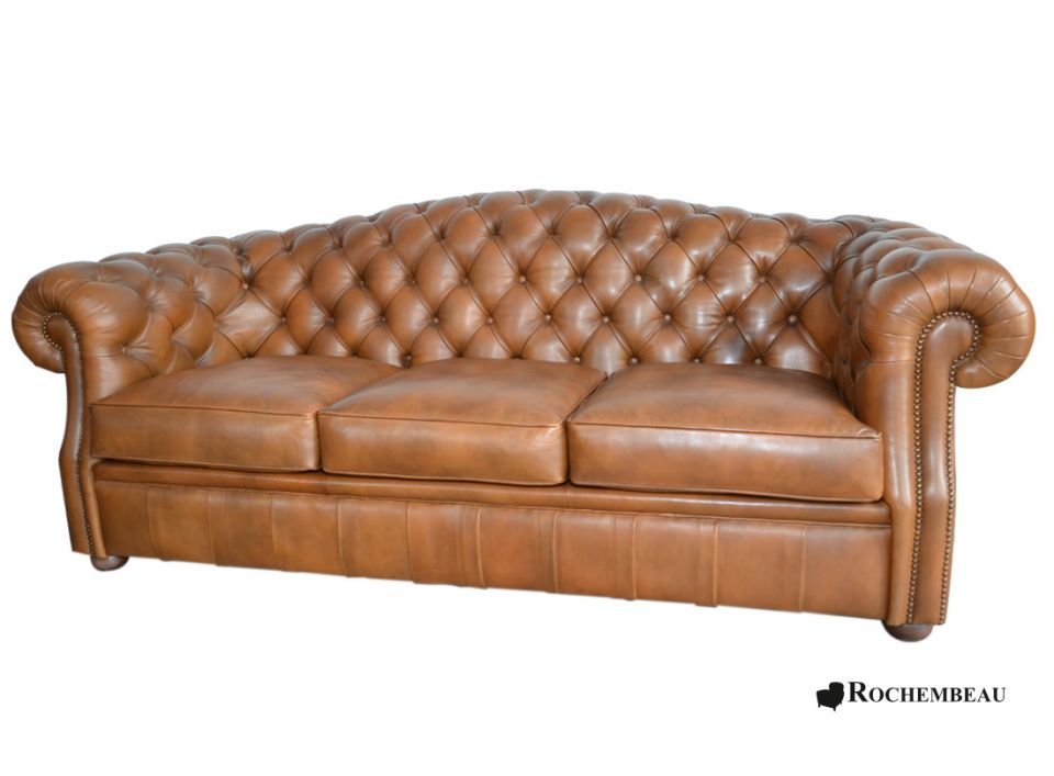 Canap chesterfield cook dossier rond for Canape rond convertible