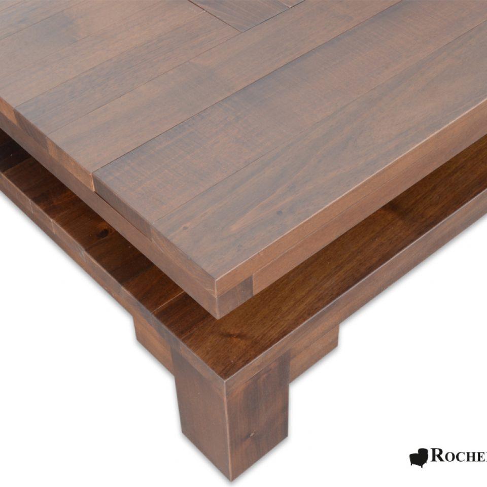 Catalogue Salon En Bois Massif : Table basse carré de salon en bois massif