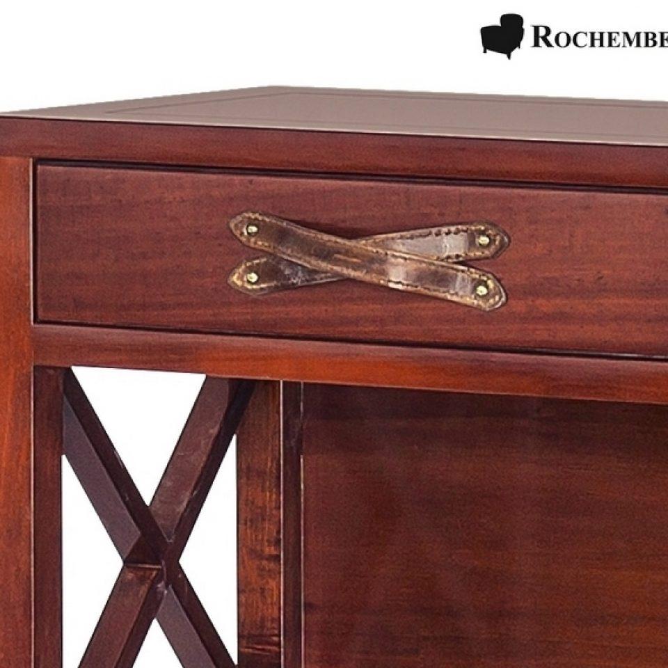 Meuble bibus de rangement en bois massif style marine for Poignee de meuble en cuir