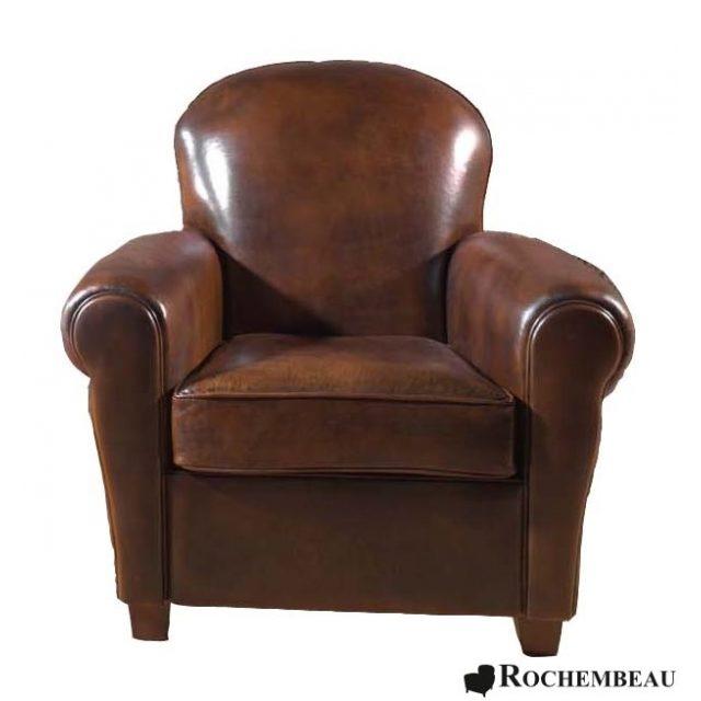Fauteuil club clapton fauteuil club en cuir basane rochembeau - Fauteuil club original ...
