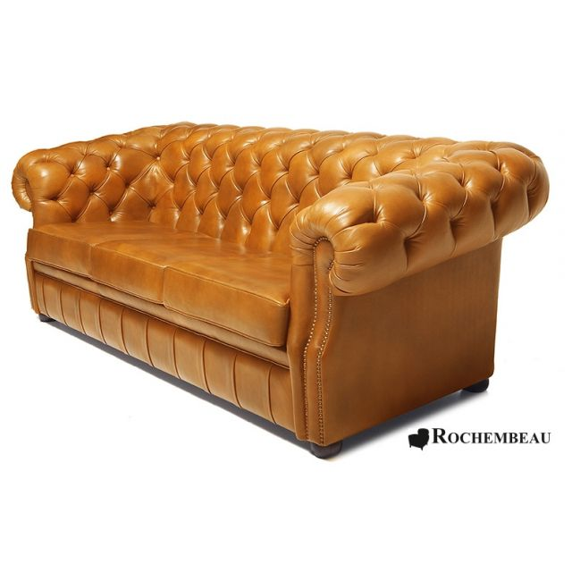 Canap chesterfield cook canap chesterfield en cuir basane rochembeau - Canape cuir chesterfield ...