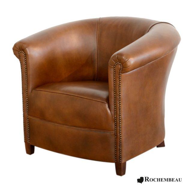 fauteuil club brighton fauteuil club crapaud tonneau en cuir. Black Bedroom Furniture Sets. Home Design Ideas