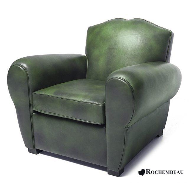 le fauteuil club moustache en cuir r dition du fauteuil club ann es 30. Black Bedroom Furniture Sets. Home Design Ideas